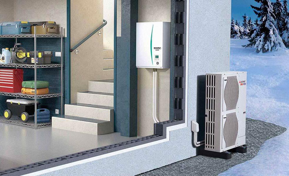 Mitsubishi Ecodan Zubadan - Pompe à chaleur air/eau
